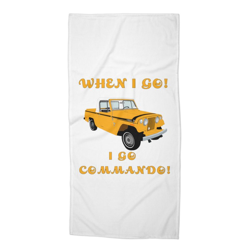 GOING COMMANDO! Accessories Beach Towel by Dover Design Works' Artist Shop