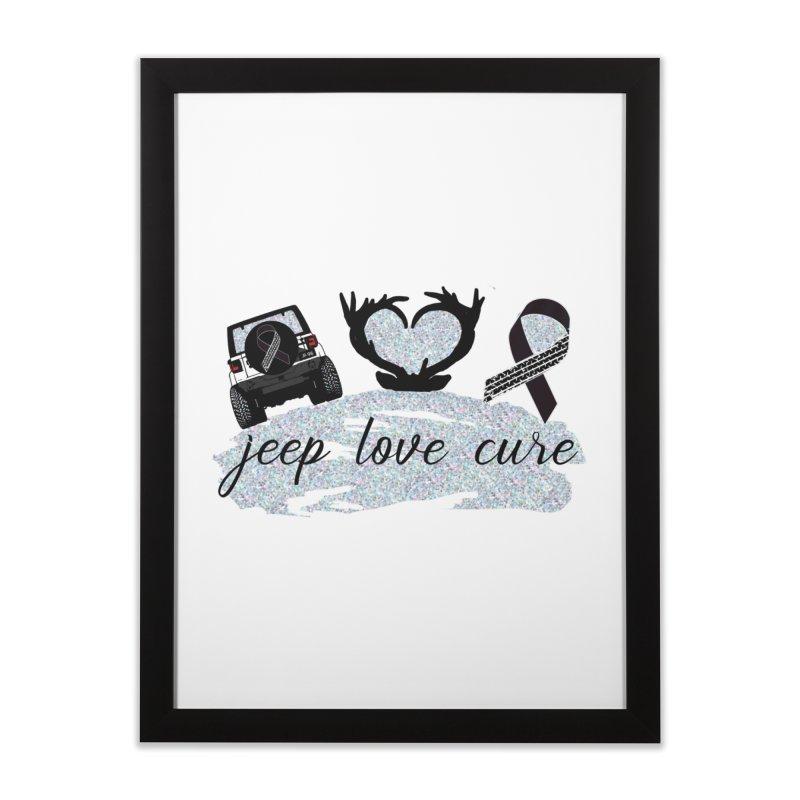 JEEP LOVE CURE Home Framed Fine Art Print by Dover Design Works' Artist Shop