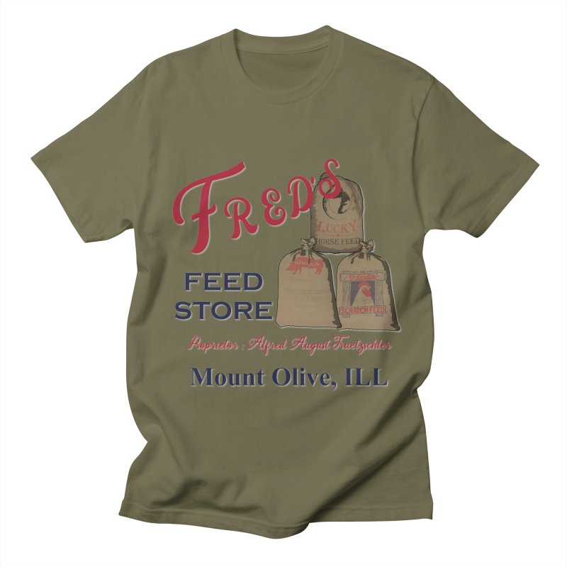 Fred's Feed Store Men's T-Shirt by Dover Design Works' Artist Shop