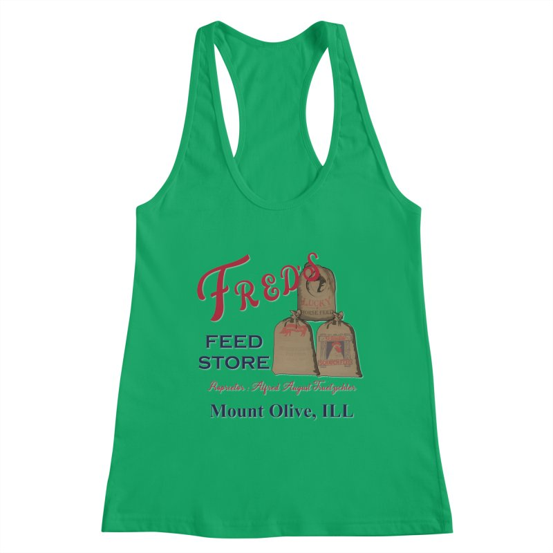 Fred's Feed Store Women's Tank by Dover Design Works' Artist Shop