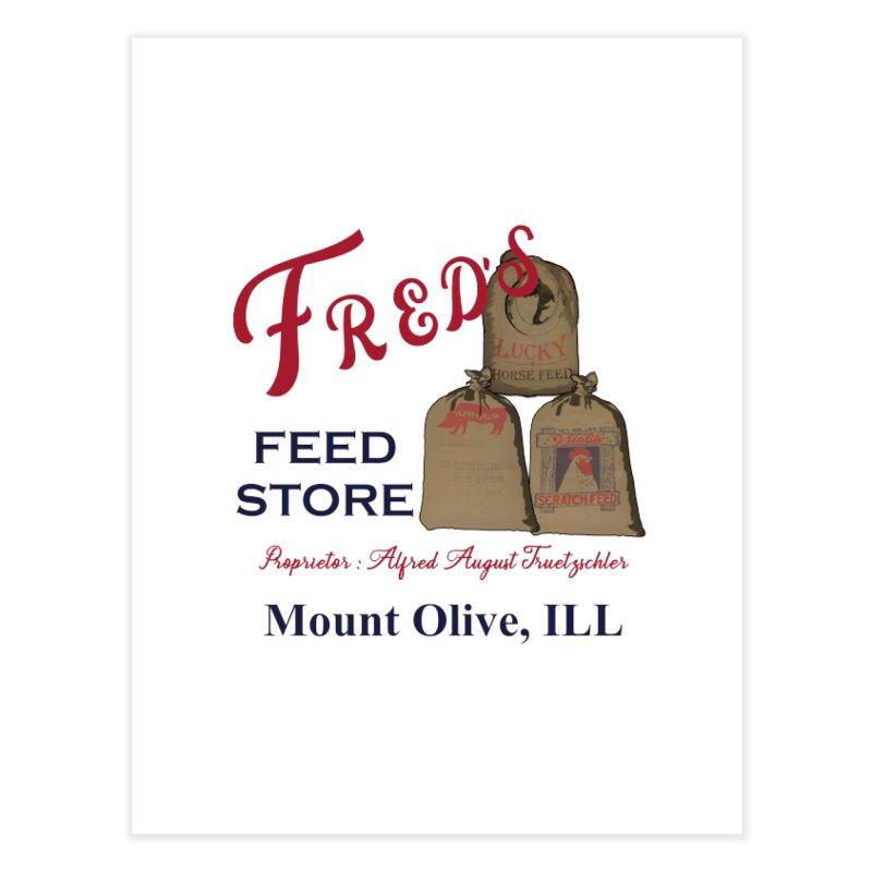 Fred's Feed Store Home Fine Art Print by Dover Design Works' Artist Shop