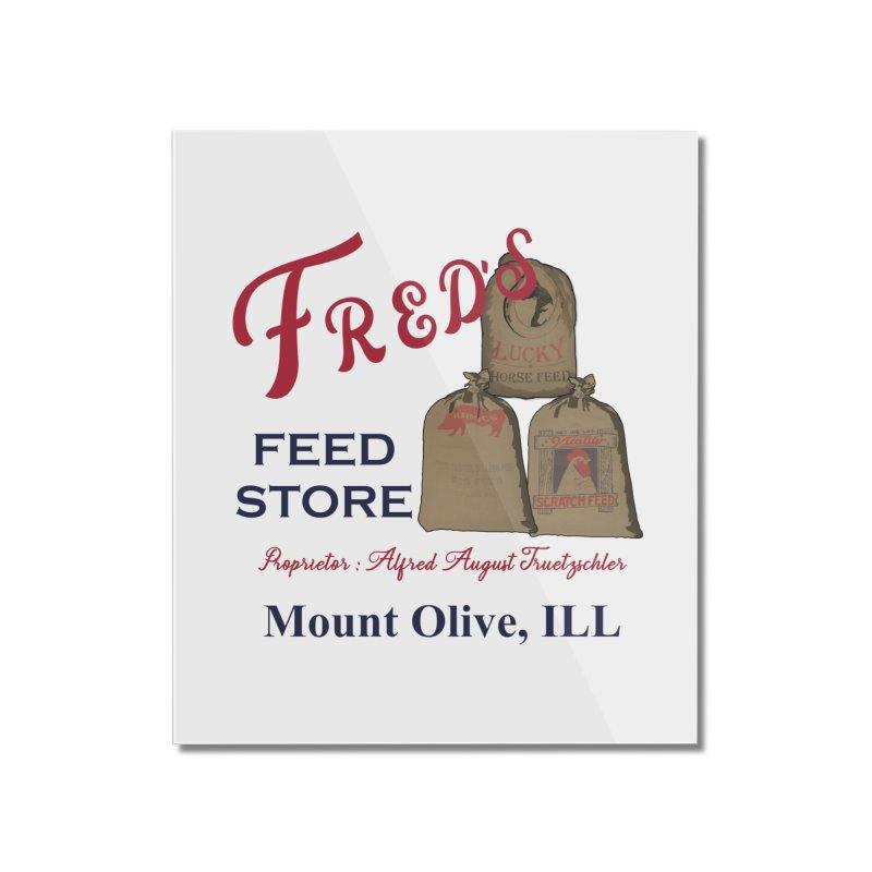 Fred's Feed Store Home Mounted Acrylic Print by Dover Design Works' Artist Shop