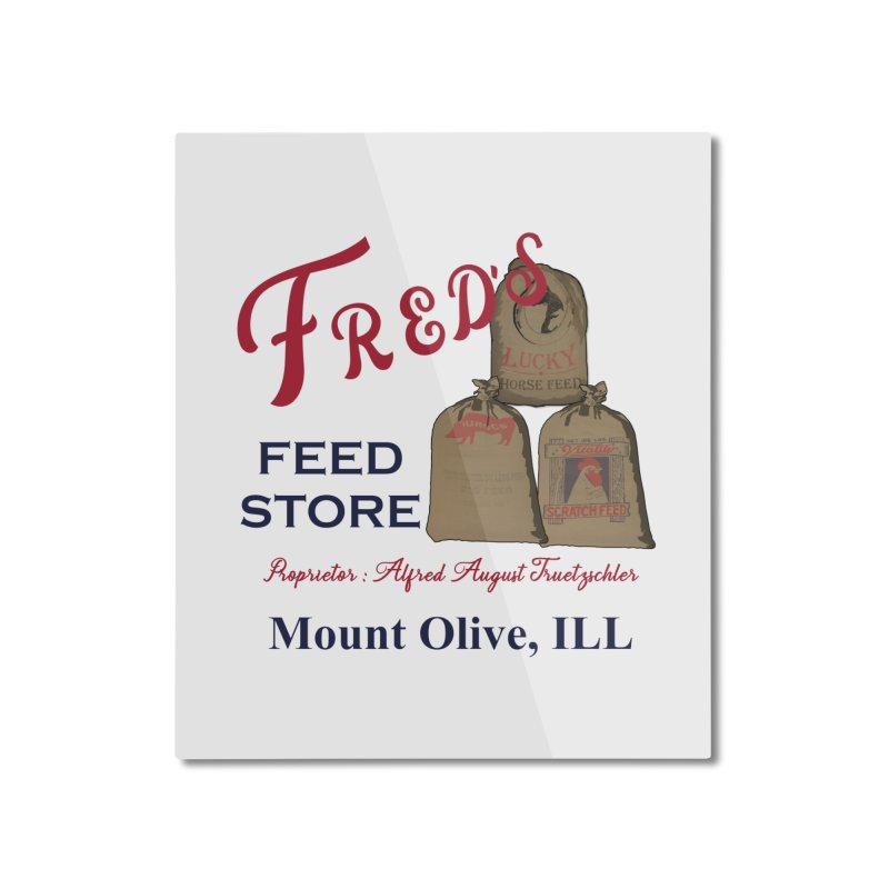 Fred's Feed Store Home Mounted Aluminum Print by Dover Design Works' Artist Shop