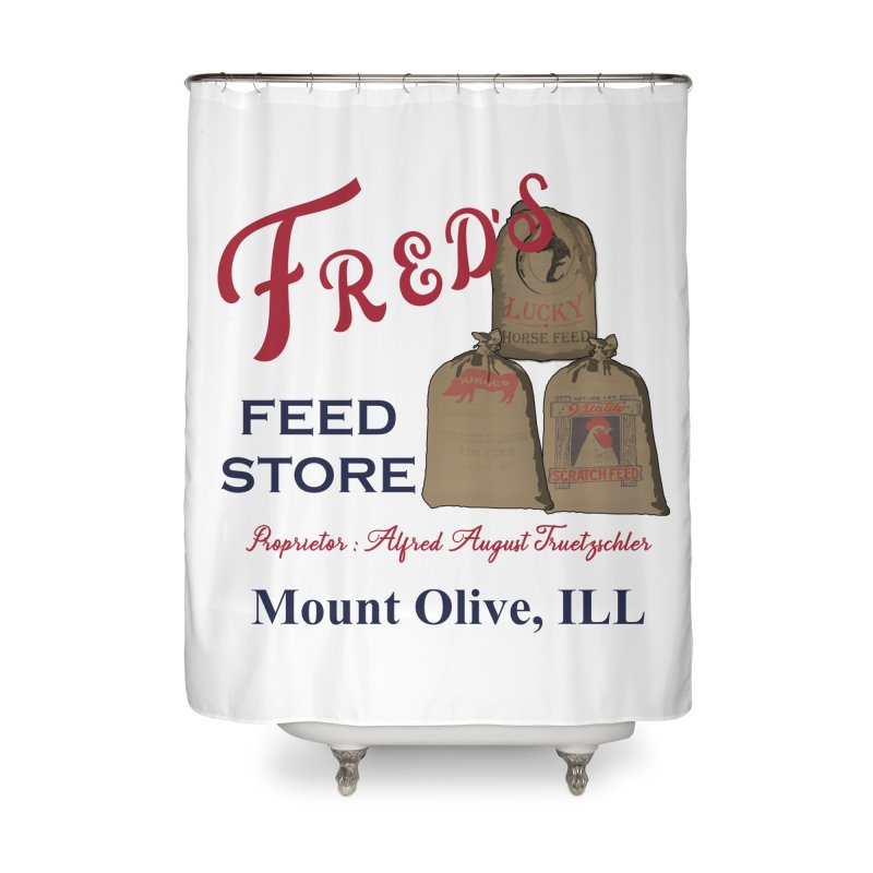 Fred's Feed Store Home Shower Curtain by Dover Design Works' Artist Shop