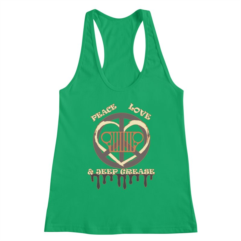 Peace Love & Jeep Grease Women's Tank by Dover Design Works' Artist Shop