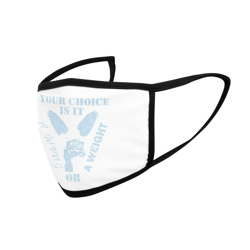 A WING OR A WEIGHT? Accessories Face Mask by Dover Design Works' Artist Shop
