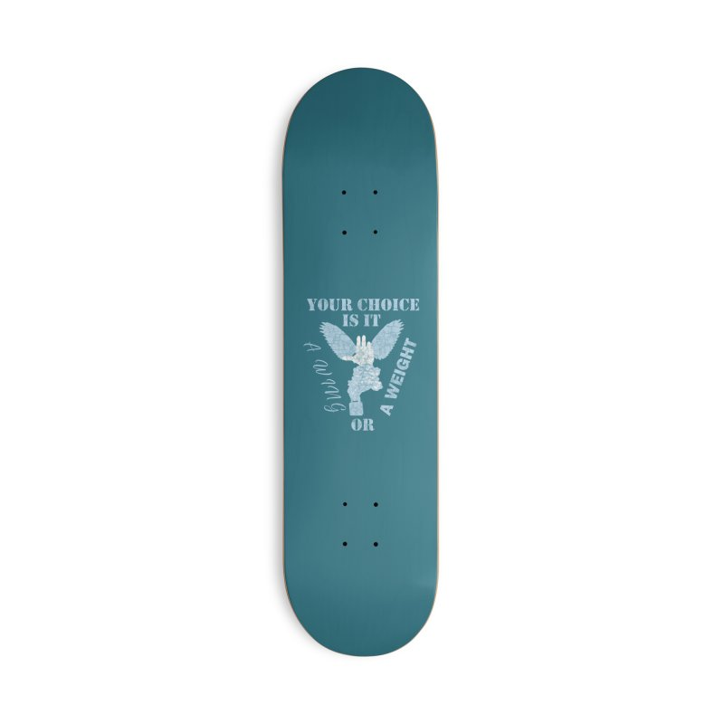 A WING OR A WEIGHT? Accessories Skateboard by Dover Design Works' Artist Shop