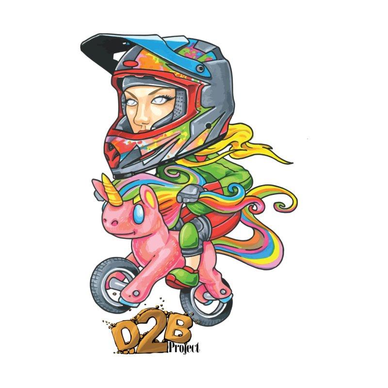 Rainbow Ponycorn - D2B by Down 2 Bike Project's Artist Shop