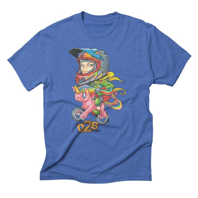 Rainbow Ponycorn - D2B Men's T-Shirt by Down 2 Bike Project's Artist Shop