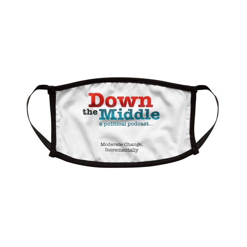 Down the Middle: A Political Logo Products Accessories Face Mask by downthemiddle's Artist Shop