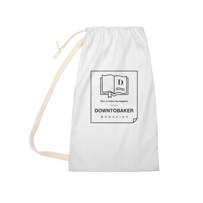 Downtobaker Black 'flap' Logo Accessories Laundry Bag Bag by Downtobaker Shop