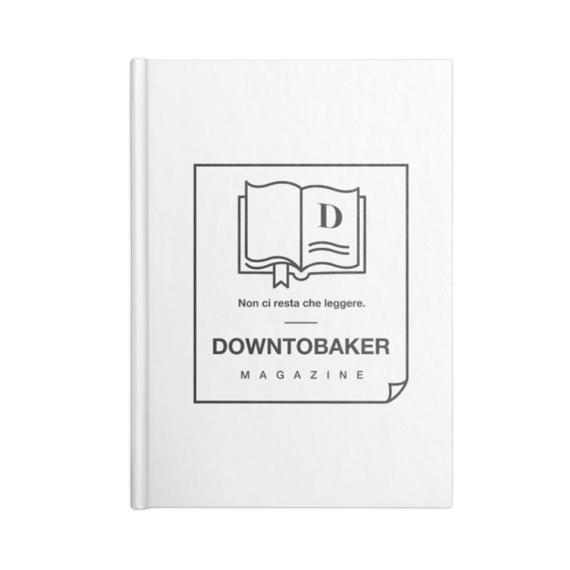 Downtobaker Black 'flap' Logo Accessories Blank Journal Notebook by Downtobaker Shop