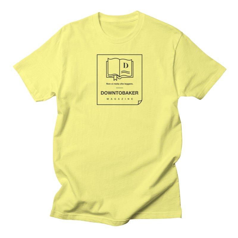Downtobaker Black 'flap' Logo Men's T-Shirt by Downtobaker Shop