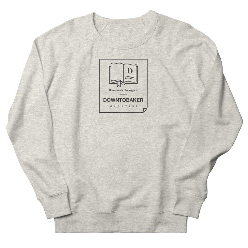 Downtobaker Black 'flap' Logo Men's French Terry Sweatshirt by Downtobaker Shop