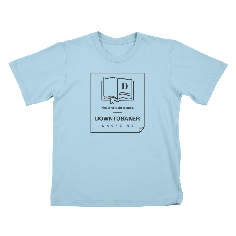 Downtobaker Black 'flap' Logo Kids T-Shirt by Downtobaker Shop