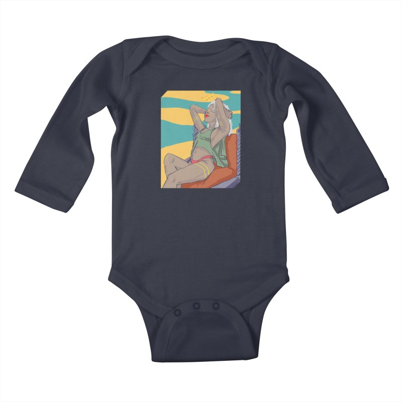 NEVER EVER SETTLE Kids Baby Longsleeve Bodysuit by designs by doxxi