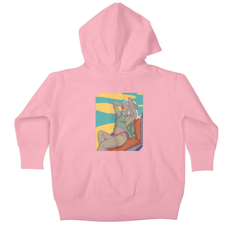 NEVER EVER SETTLE Kids Baby Zip-Up Hoody by designs by doxxi