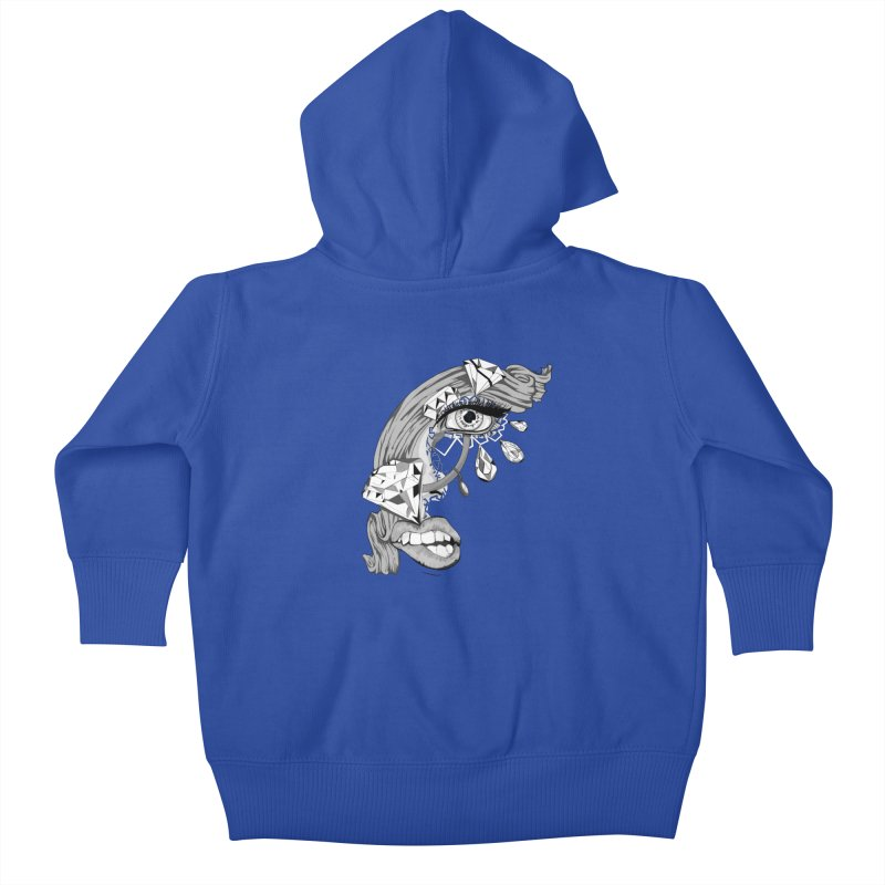 Bling Bling Kids Baby Zip-Up Hoody by designs by doxxi
