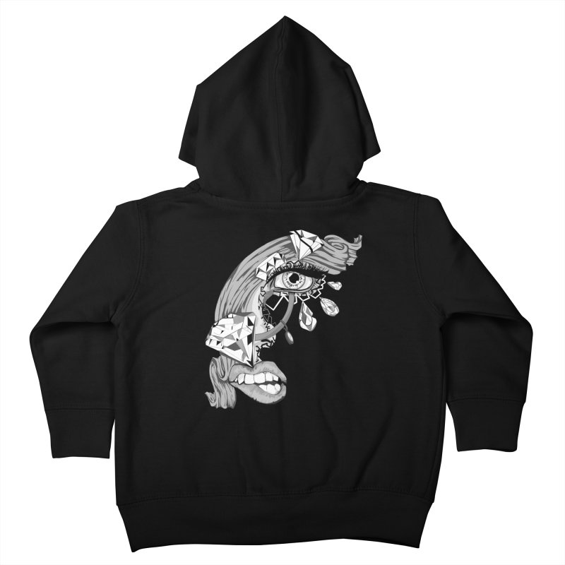Bling Bling Kids Toddler Zip-Up Hoody by designs by doxxi