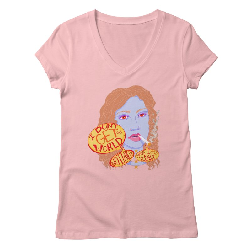 Welp Women's V-Neck by designs by doxxi