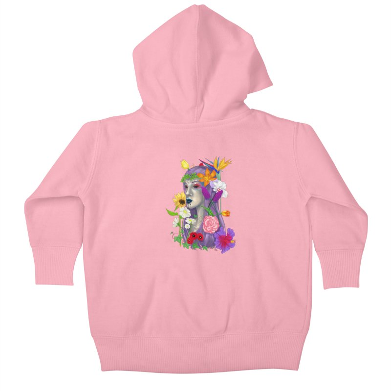 I CAN'T SEE Kids Baby Zip-Up Hoody by designs by doxxi