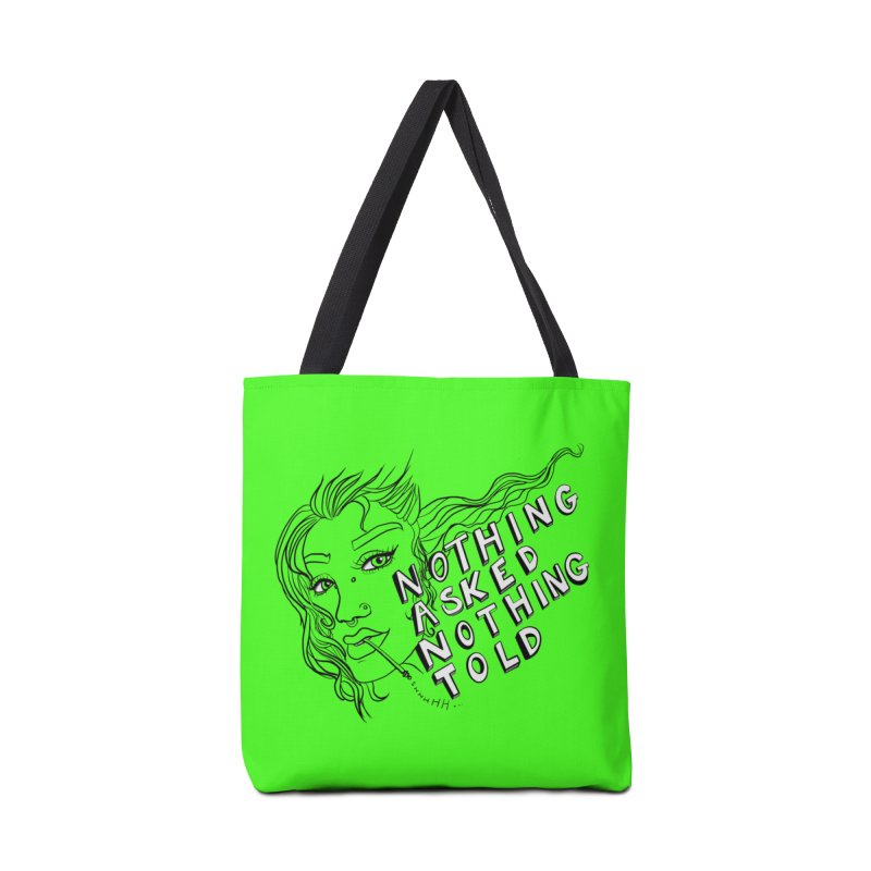 Nothing Asked, Nothing Told Accessories Bag by designs by doxxi