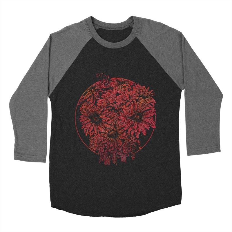 Death Blooms Women's Baseball Triblend T-Shirt by doylesee's Artist Shop