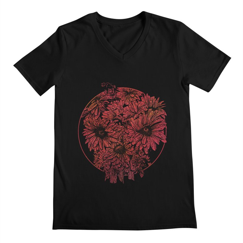 Death Blooms Men's V-Neck by doylesee's Artist Shop
