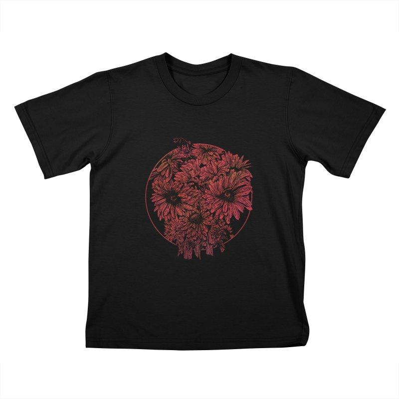 Death Blooms Kids T-shirt by doylesee's Artist Shop