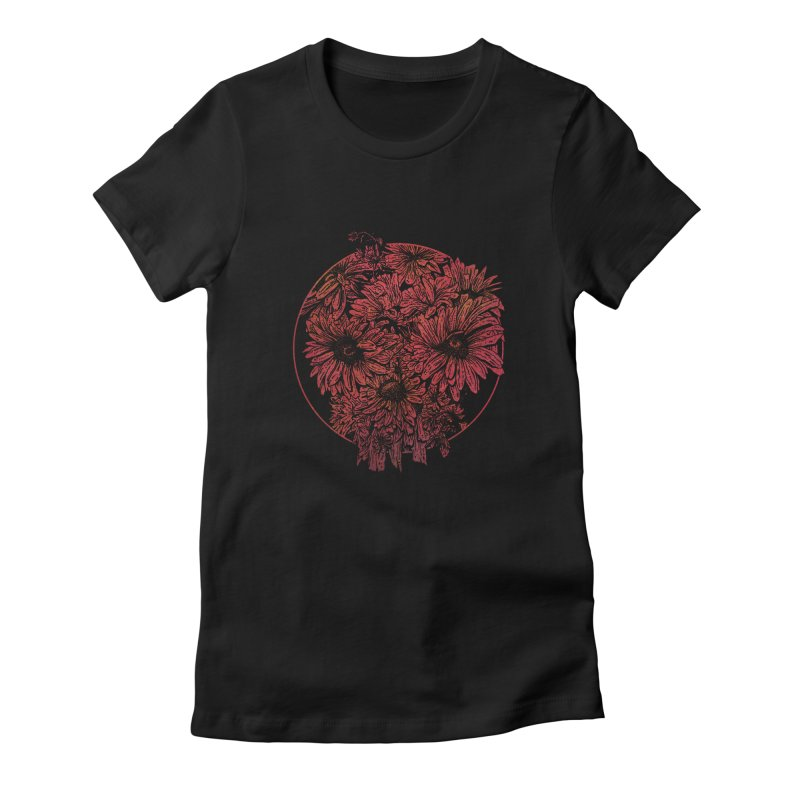 Death Blooms Women's Fitted T-Shirt by doylesee's Artist Shop