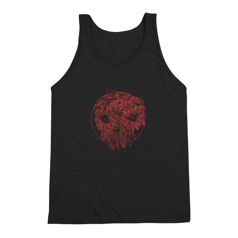 Death Blooms Men's Triblend Tank by doylesee's Artist Shop