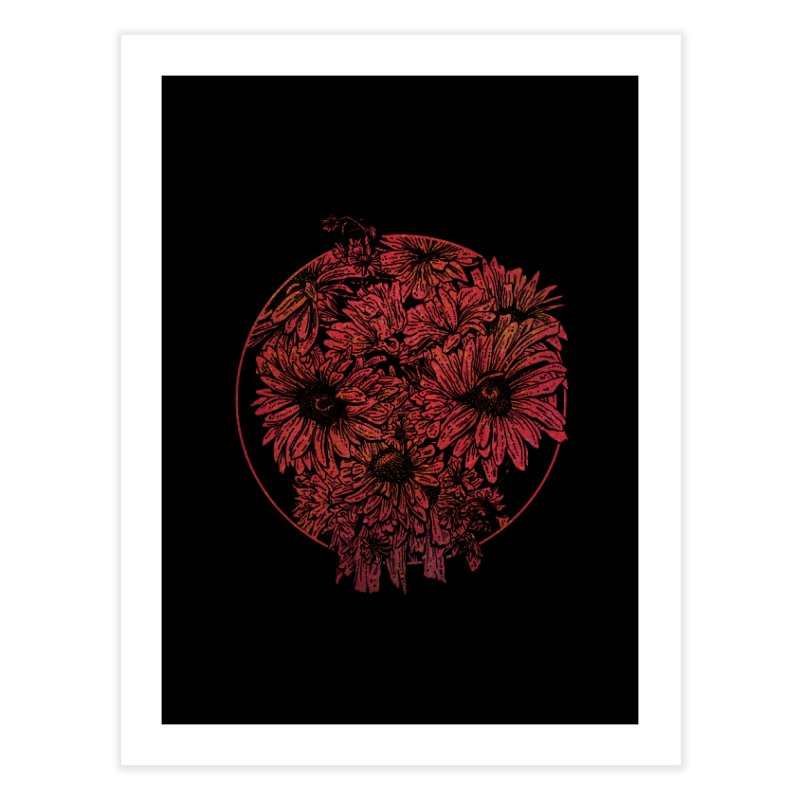 Death Blooms Home Fine Art Print by doylesee's Artist Shop