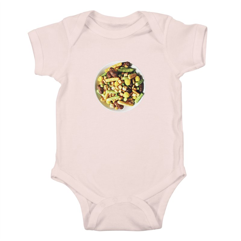 Bowl of Junk Kids Baby Bodysuit by doylesee's Artist Shop
