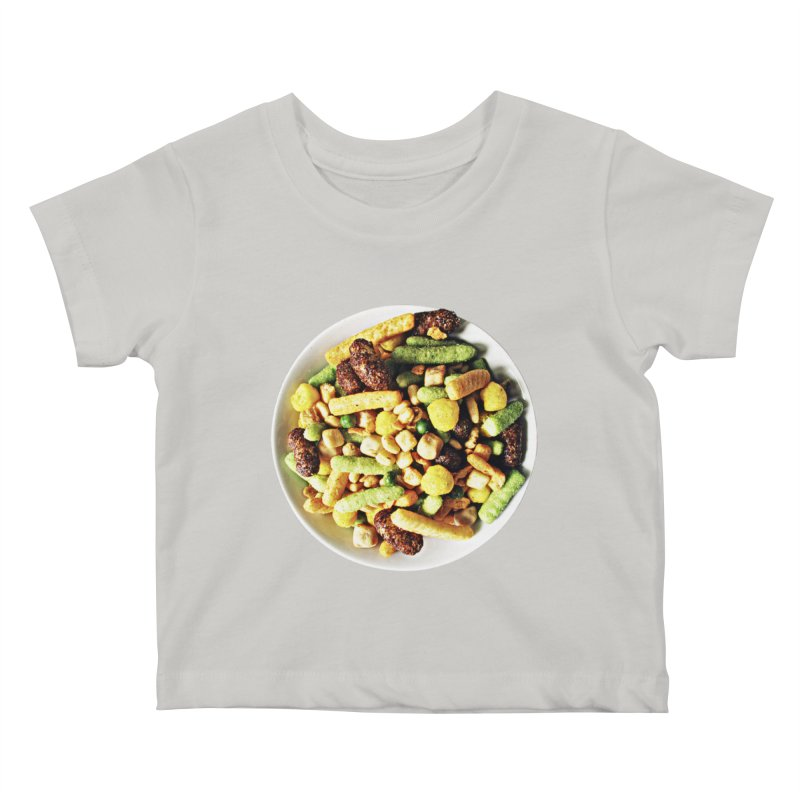 Bowl of Junk Kids Baby T-Shirt by doylesee's Artist Shop