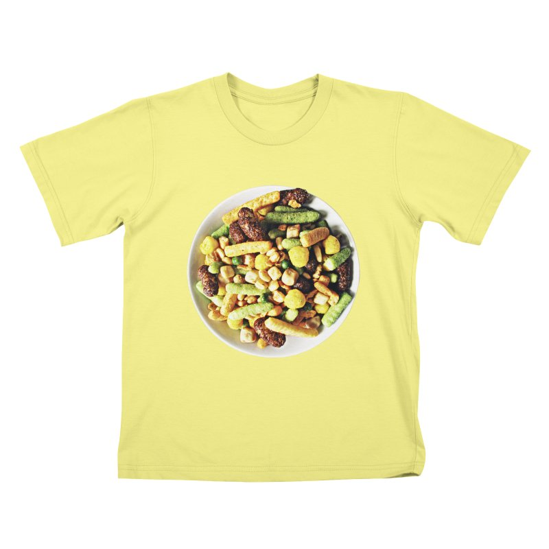 Bowl of Junk Kids T-shirt by doylesee's Artist Shop