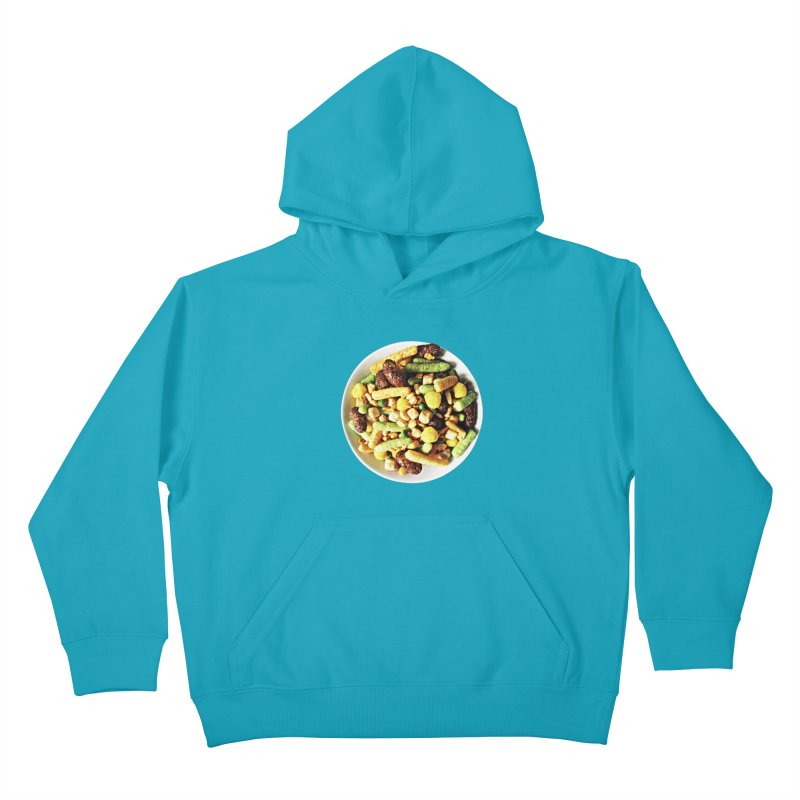 Bowl of Junk Kids Pullover Hoody by doylesee's Artist Shop