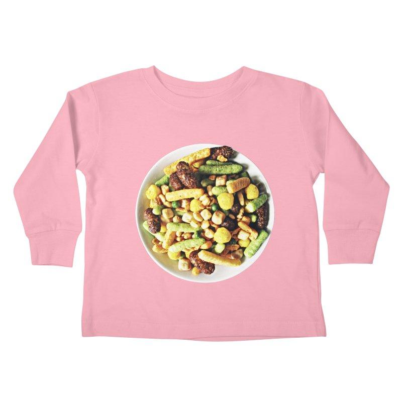 Bowl of Junk Kids Toddler Longsleeve T-Shirt by doylesee's Artist Shop