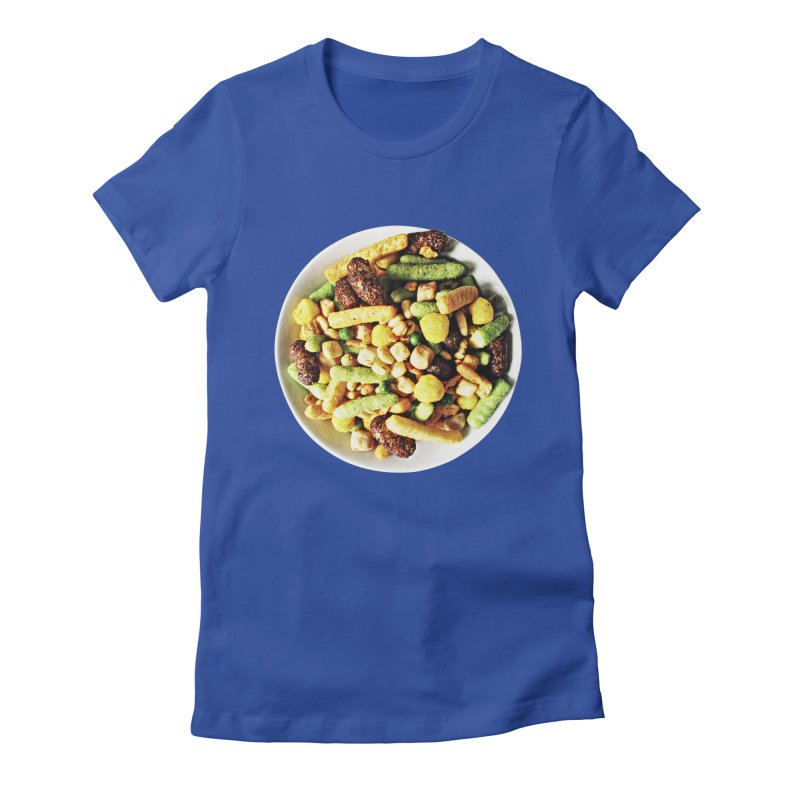 Bowl of Junk Women's Fitted T-Shirt by doylesee's Artist Shop