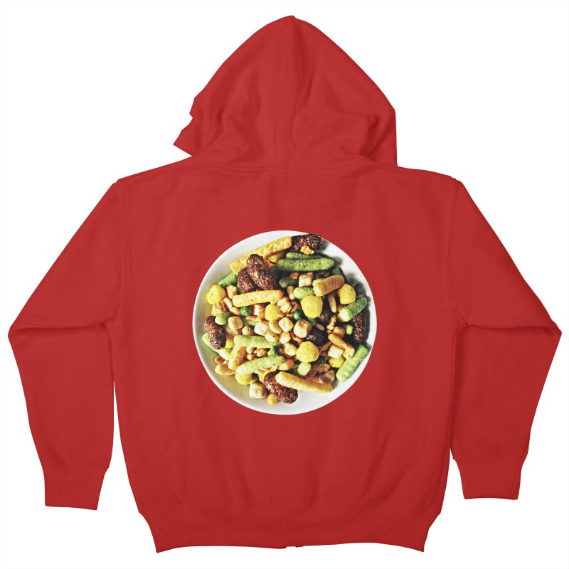 Bowl of Junk Kids Zip-Up Hoody by doylesee's Artist Shop