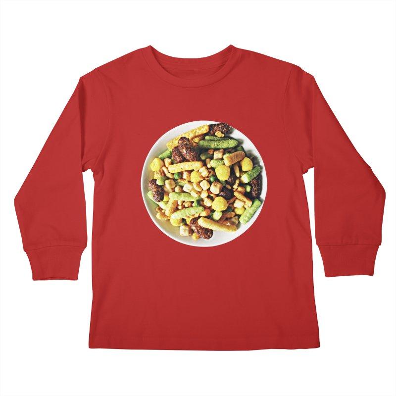Bowl of Junk Kids Longsleeve T-Shirt by doylesee's Artist Shop