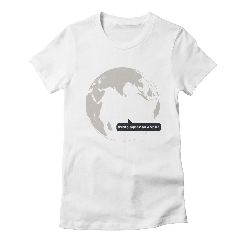 Message from Earth Women's Fitted T-Shirt by Dustees Shop