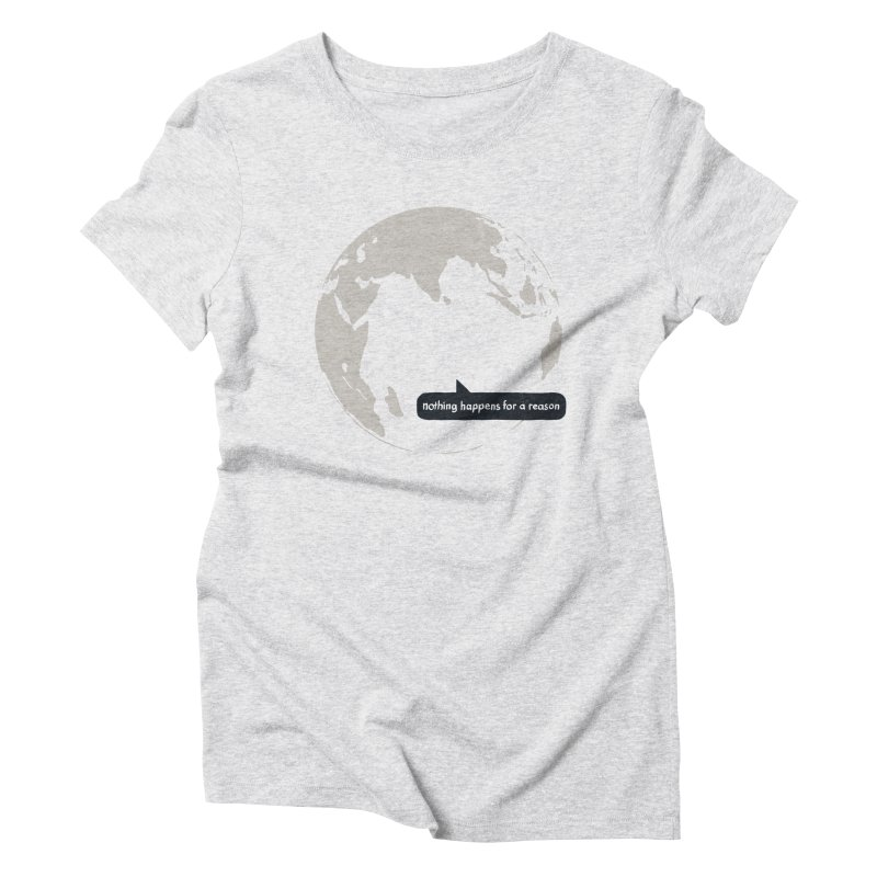 Message from Earth Women's Triblend T-shirt by Dustees Shop