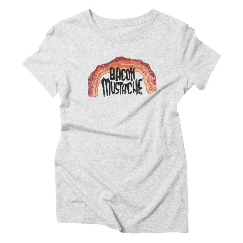 Bacon Mustache Women's Triblend T-Shirt by Dustees Shop