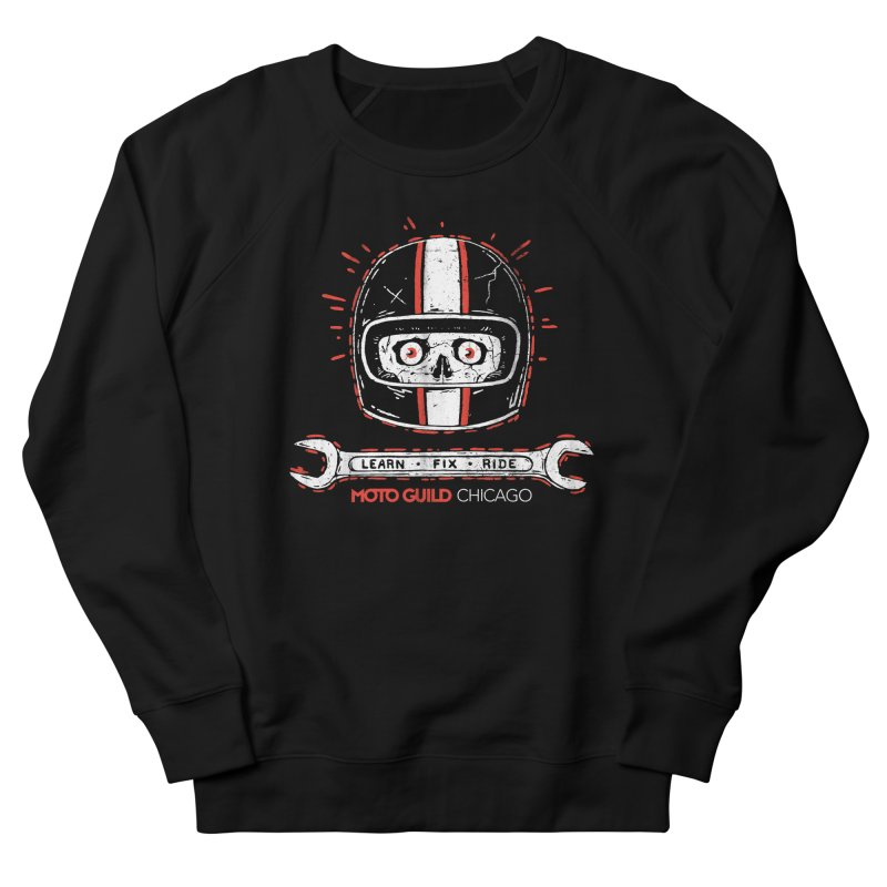 Moto Guild Chicago Men's French Terry Sweatshirt by Dustees Shop