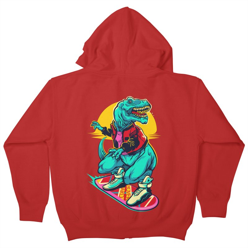 Rex to the Future Kids Zip-Up Hoody by dracoimagem's Artist Shop