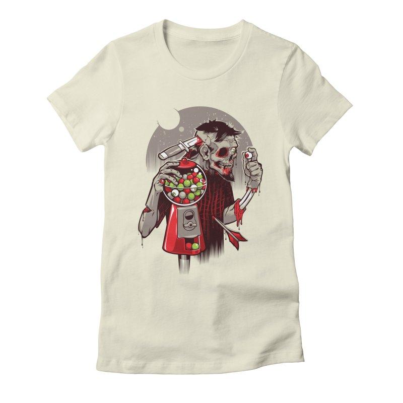 Bubbleye gum Women's Fitted T-Shirt by dracoimagem's Artist Shop