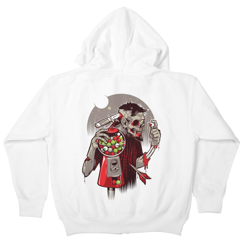 Bubbleye gum Kids Zip-Up Hoody by dracoimagem's Artist Shop