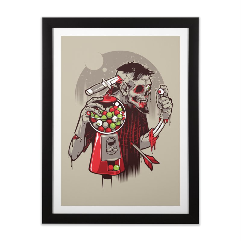 Bubbleye gum Home Framed Fine Art Print by dracoimagem's Artist Shop