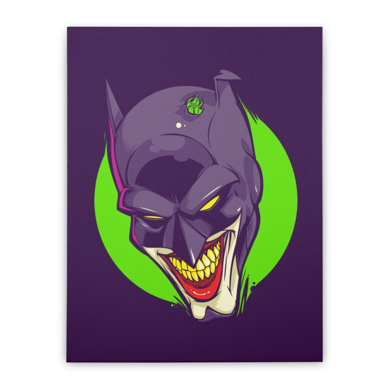 A bat joke Home Stretched Canvas by dracoimagem's Artist Shop
