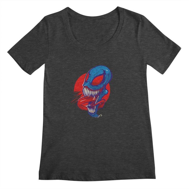 Spidervenomous Women's Scoopneck by dracoimagem's Artist Shop